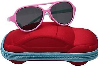def183b03c SHISI Gafas de sol polarizadas con marco flexible de goma para niños y niñas,  para