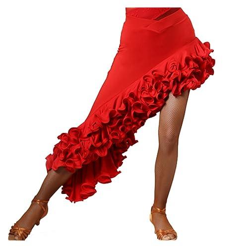 6bf56ade9a30 CHAGME Latin Dress High-Grade Screw Skirt Tango Dress Cha Cha Dance Skirts  Ballroom Skirt