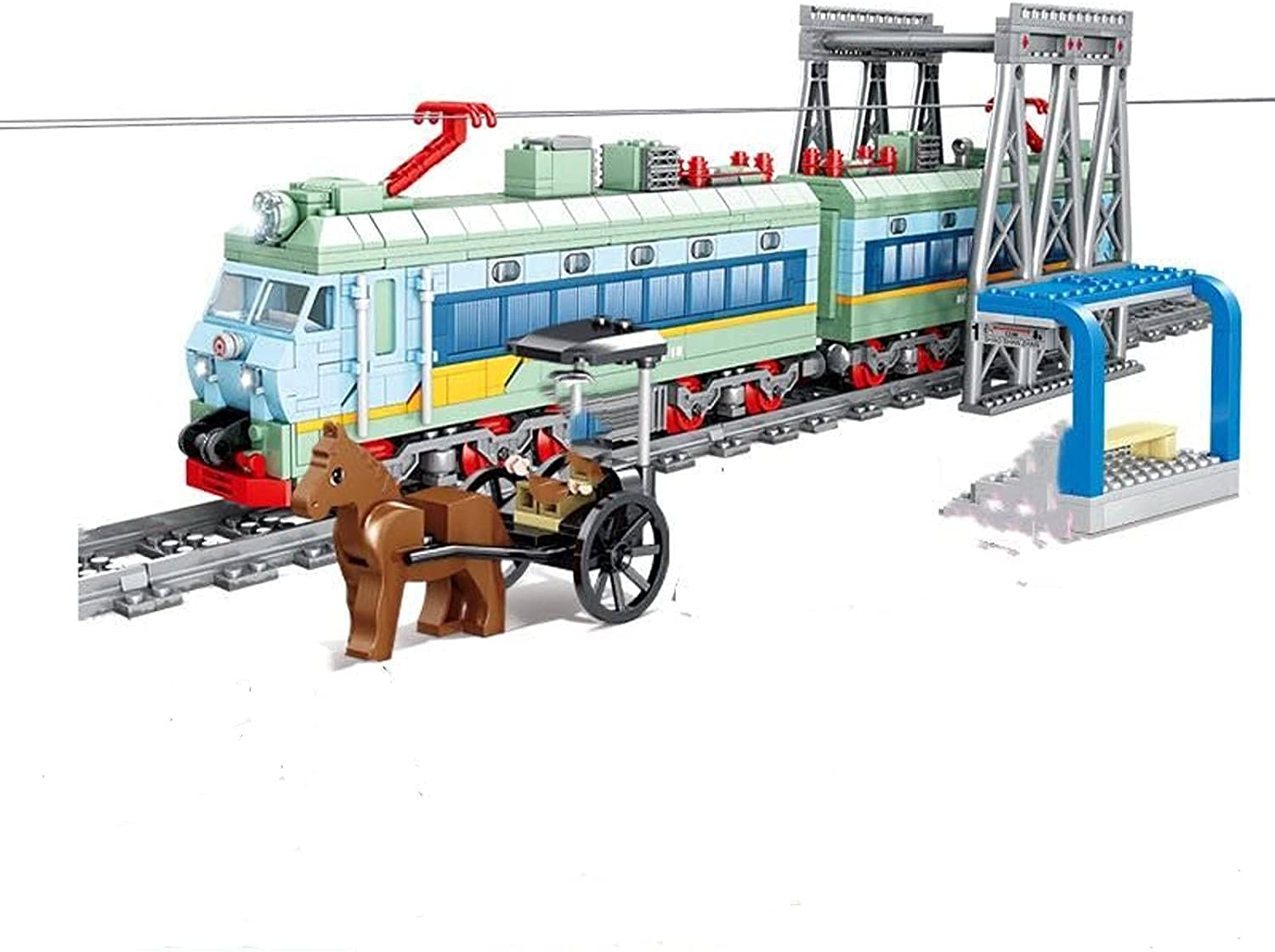 N\C In a popularity Children's Building Block Train Track Mach Urban Set Laying Dealing full price reduction