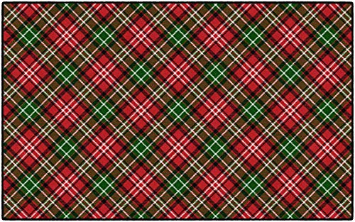Brumlow MILLS Christmas Plaid Washable Festive Print Indoor or Outdoor Holiday Rug for Living or Dining Room, Bedroom and Kitchen Area, 5'x8', Multi