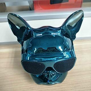 qiyanPortable Altavoz Bluetooth Inalámbrico Dog Mini Cartoon Touch HiFi Teléfono móvil al Aire Libre Subwoofer de Audio Regalo Personalizado en Altavoces portátiles Azul negruzco