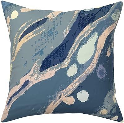 Waterproof and Mildew Proof Japanese Waterfall Pillow ArtVerse Katsushika Hokusai 16 x 16 Outdoor Cushions UV Properties