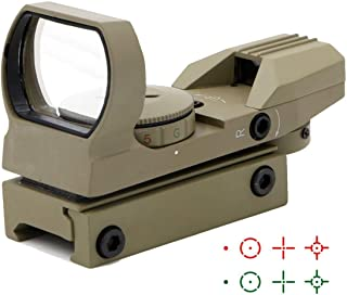 Ohuhu Red Green Dot Gun Sight Scope Reflex Sight with 4 Reticles