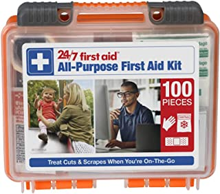 24/7 First Aid 100 Piece All-Purpose First Aid Kit