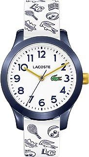 ساعة لاكوست 12.12 مع سوار من السيليكون ومينا باللون الابيض للاطفال من لاكوست - طراز 2030011