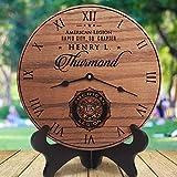 Relojes de pared regalos para maridos jubilación para hombres nombre personalizado American Legio Silencioso estilo toscano reloj de madera decoración del hogar