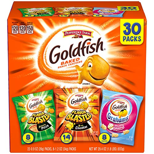 VARIETY PACK INCLUDES: 30 single-serve snack bags of sweet and savory Goldfish crackers