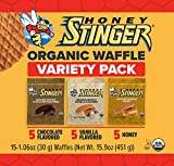 Honey Stinger Organic Waffle For Sports Nutrition, Honey/Vanilla/Chocolate, 15 Oz