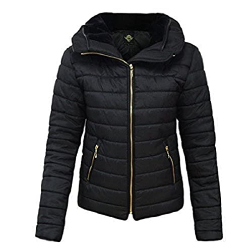 e69d272e52d GLAM COUTURE NEW LADIES WOMENS QUILTED PADDED PUFFER BUBBLE FUR COLLAR WARM  THICK JACKET COAT