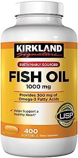 Kirkland Omega 3 Fish Oil 1000 mg 400 Softgels by Kirkland