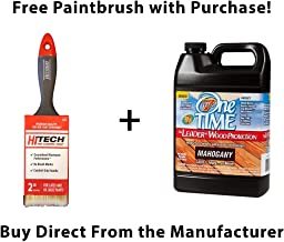 One TIME Mahogany Wood Stain & Sealer 1 Gallon Size