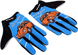 FITYLE Kids Cycling Gloves Non-Slip Children Half/Full Finger Bicycle Riding Padded Sports Glove