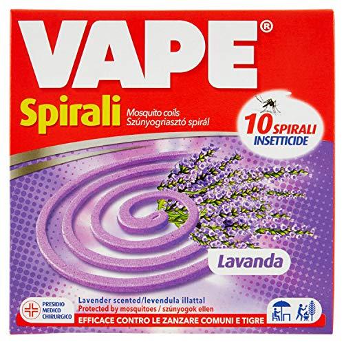 Vape, Spirali insetticide, Confezione da 10 pezzi, Profumazioni assortite