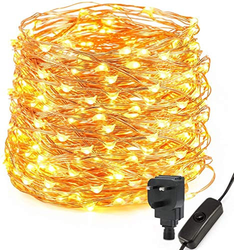 Kohree200 LED String Lights, 20m/65ft Fairy Lights Plug in, Waterproof Copper Wire Lights Warm White Christmas Lights for Outdoor, Indoor, Wedding, Garden Party