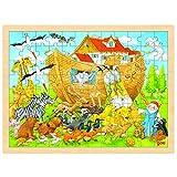 GOKI- Puzzles de maderaPuzzles de maderaGOKIPuzzle, Entrar en la Arca de Noé, Multicolor (1)