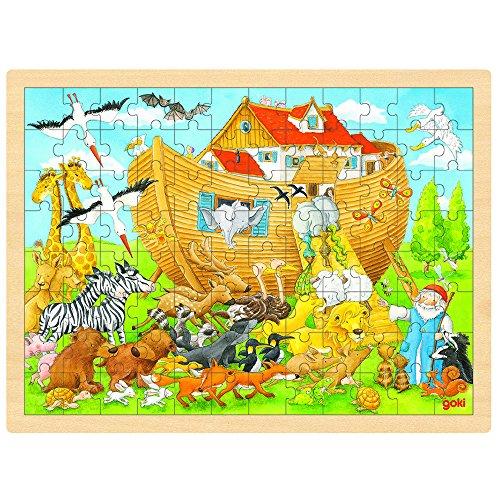 Goki 57535 Einlegepuzzle Einzug in die Arche Noah