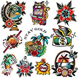 CARGEN Old School Temporary Tattoo for Women Men great Cool Classic Stickers...