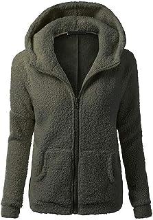 Women's Hoodie Jacket Ultra Soft Warm Comfy Plush Sweatshirt Winter Warm Coat Hoodie Sweatshirt Teddy Bear Fuzzy Autumn Zi...