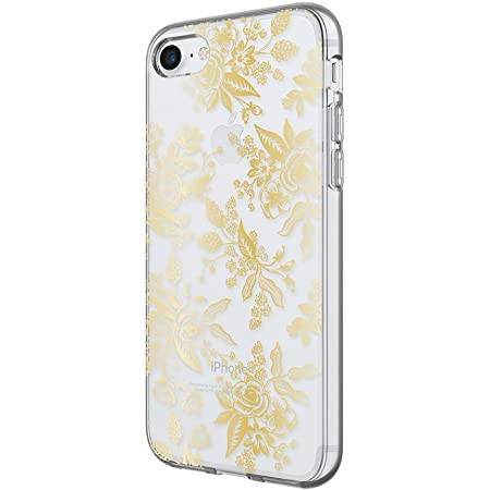 Rifle Paper Co Clear Gold Floral Toile iPhone 7 and iPhone 6 Compatible Phone Case Cover