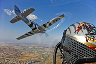 Posterazzi Airborne with The Horsemen the only modern P-51D Mustang aerobatic flight team. Poster Print, (34 x 22)