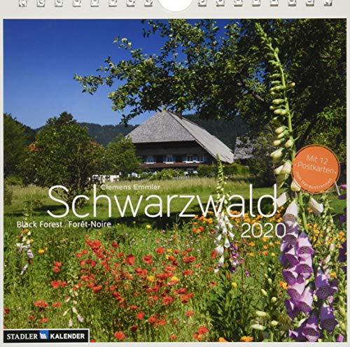 Schwarzwald 2020: Postkarten-Tischkalender