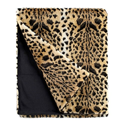 Fabulous Furs: Faux Fur Luxury Throw Blanket, Leopard, Available in generous sizes 60x60, 60x72 and 60x86, by Donna Salyers