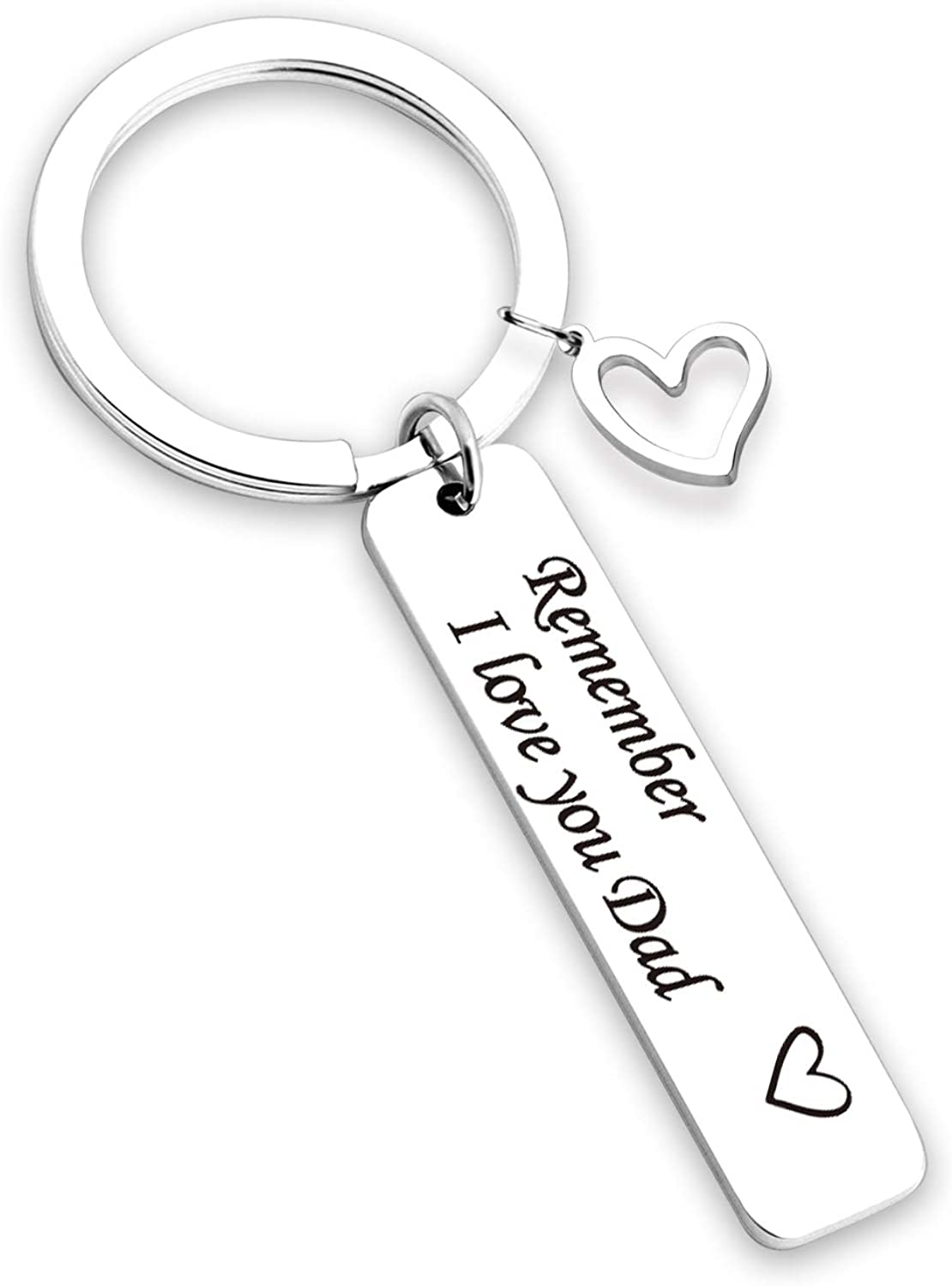 TOGON Max 41% OFF Remember I Love You Mom Dad Stainless Jewel Sacramento Mall Steel Keychain