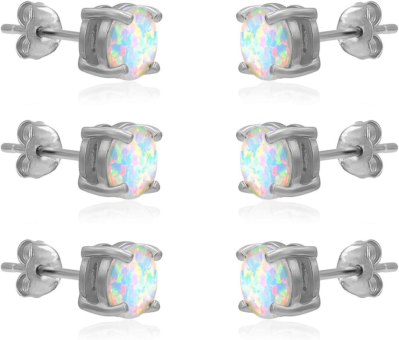 River Island - 6mm Round Shape CZ Stud Earrings Avl colors