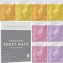 Face Mask for Korean Skincare - Sheet Mask for Moisturizing and Brightening Skin | Dermatologist Tested Charcoal Face Mask...