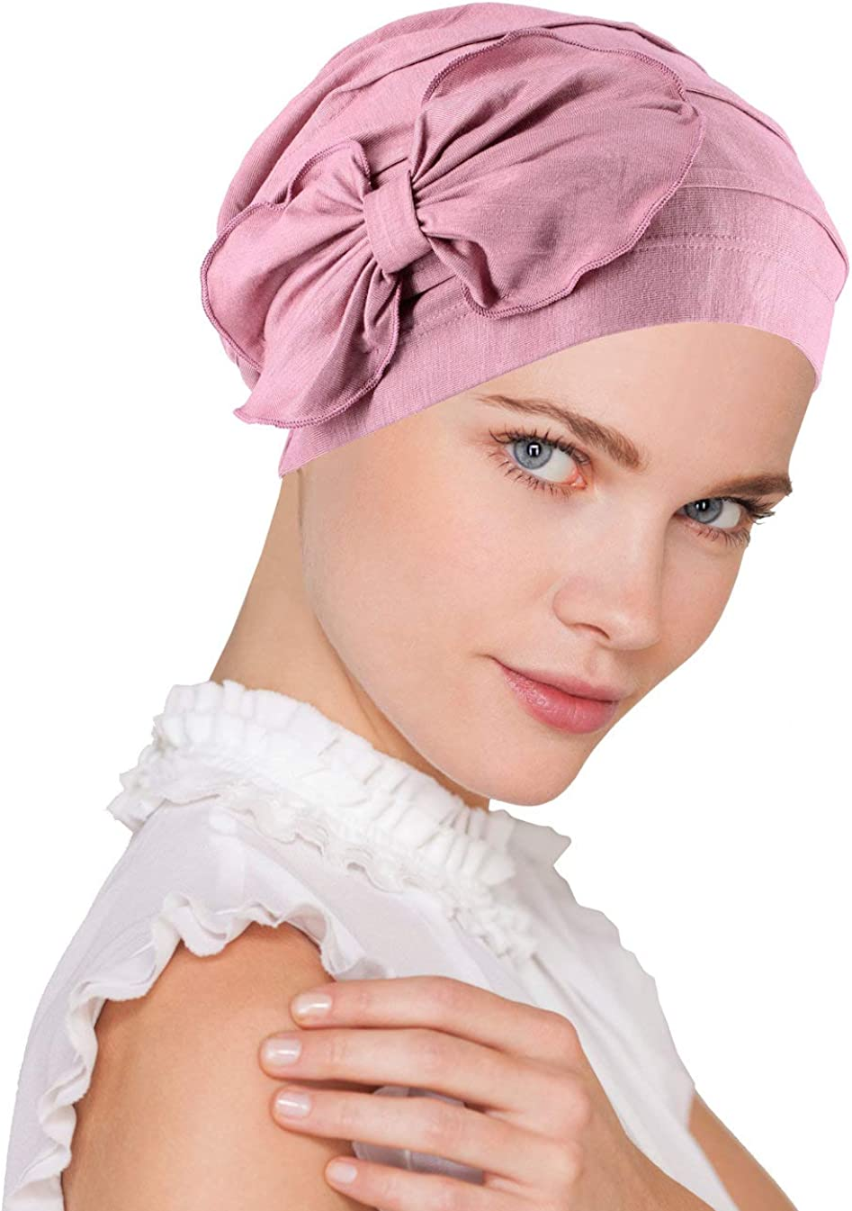 Lux Ultra Superior Soft Bamboo Chemo Hat Beanie Cloche Large special price Flower Bow Cancer