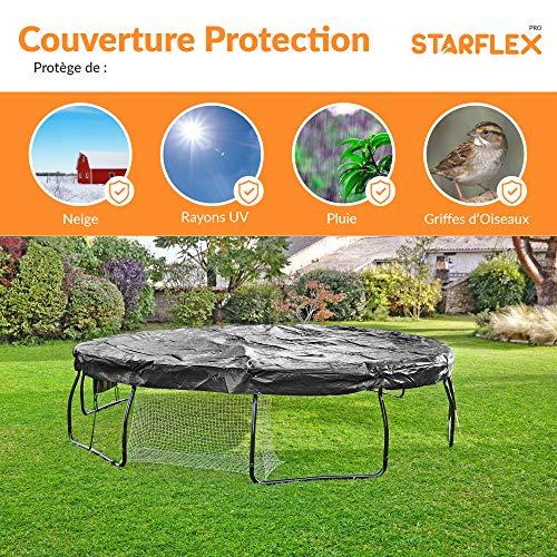 Starflex Afdekzeil voor trampoline, UV-bestendig, 180 gr/m2, dik materiaal Ø 305 cm, Ø 370 Ø 430 cm, tegen weersinvloeden en vuil