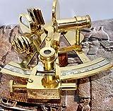 Malla Inc. Sextante náutico de latón macizo de 10,16 cm hecho a mano - Sextante marino Astrolabe modelo de barco