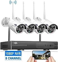 دوربین بی سیم سیستم دوربین بی سیم ، سیستم امنیتی فیلمبرداری HD [سیستم قابل ارتقاء 8CH] 4Pcs 960P 1.3MP IP دوربین امنیتی بی سیم داخلی / فضای باز IR Bullet IP دوربین های WiFi ، P2P ، NO Hard Drive ، HisEEu IP Pro