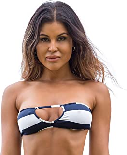 Wicked Weasel Sexy Sailor Stripe - Cheeky Bikini Top (351) Women's Swimsuits