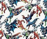 Justice League Kinderstoff – Superman Batman Green