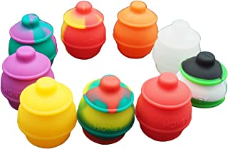 Gentcy 35ml 3p Silicone Containers Jars Wax Concentrate Honey Pots Multi Use $ 0.8/pcs