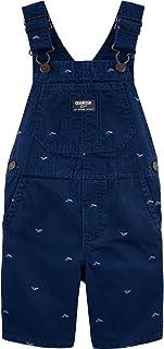 OshKosh B'Gosh Whale Schiffli Shortalls Size 12M Blue