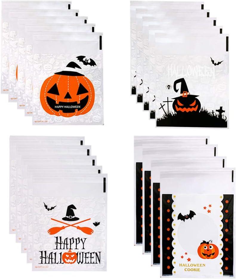 400 Pcs Halloween Phoenix Mall Candy Bags Self Treat Adhesive Bargain Trick or Cooki