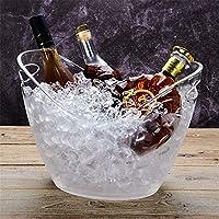 アクリル透明インゴットアイスバケット、シャンパンワインバレルアイスグレインバレルワインバレルプラスチックビールバレル、大透明