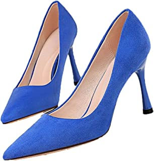 Scarpe da donna formali in pelle scamosciata slip-on gattino tacco a punta estate autunno tinta unita cinturino scarpe da ...