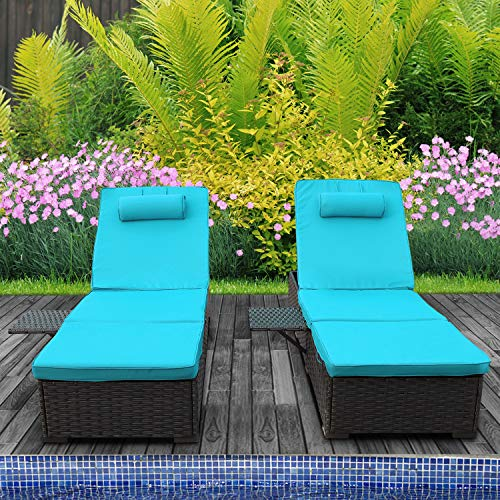 Outdoor PE Wicker Chaise Lounge