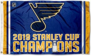 WinCraft St. Louis Blues 2019 Stanley Cup Champions Outdoor Flag and Banner
