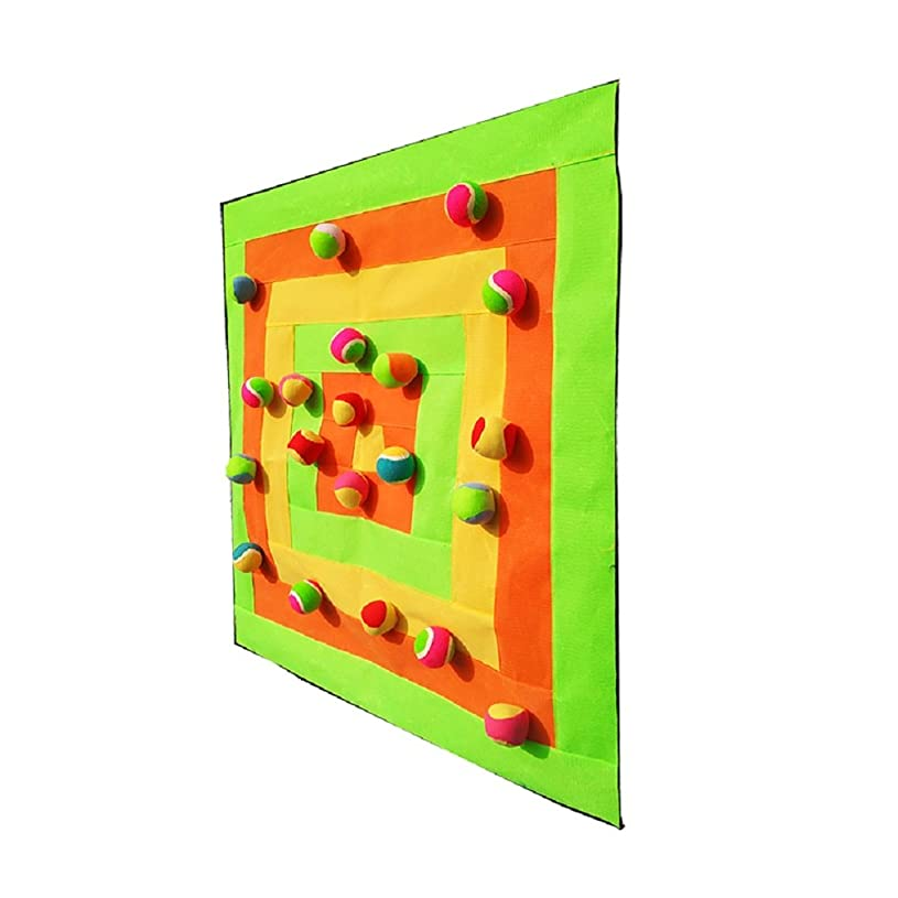 suzakoo Dart Backboards Dart Equipment ten small sticky balls one set square dartboard game for children adult throwing target playing vc4937409