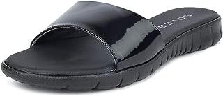 SOLES Women Espadrille Black Comfort Flats