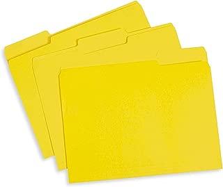 yellow manila folders