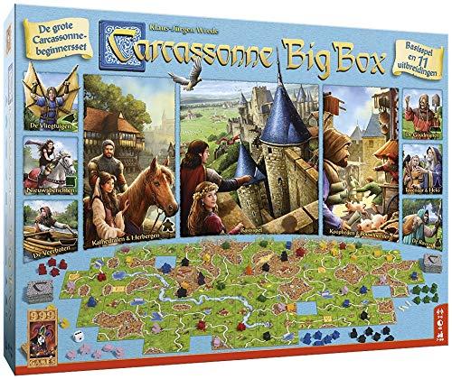999 Games - Carcassonne Big Box 3 Bordspel - vanaf 7 jaar - Een van de beste spellen van 2017 - Klaus-Jurgen Wrede - Area control,Tile placement - voor 2 tot 6 spelers - 999-CAR37