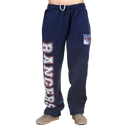 NHL Mens Premium Fleece Official Team Sweatpants