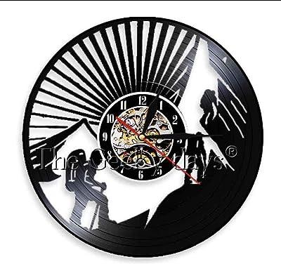 BBNNN Escalada Disco de Vinilo Reloj de Pared 3D montaña ...
