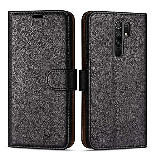 Case Collection Funda de Cuero para Xiaomi Redmi 9 (6,53') Estilo Cartera con Tapa abatible y Ranuras para Dinero y Tarjeta de crédito para Xiaomi Redmi 9 Funda