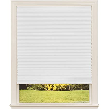 33W x 48L Inches Camel DEZ Furnishings QDCM330480 Cordless Light Filtering Pleated Shade